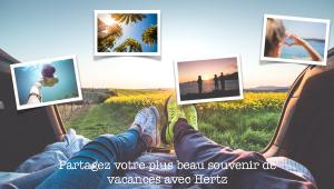 Jeu concours « Partagez votre plus beau souvenir de vacances avec Hertz »